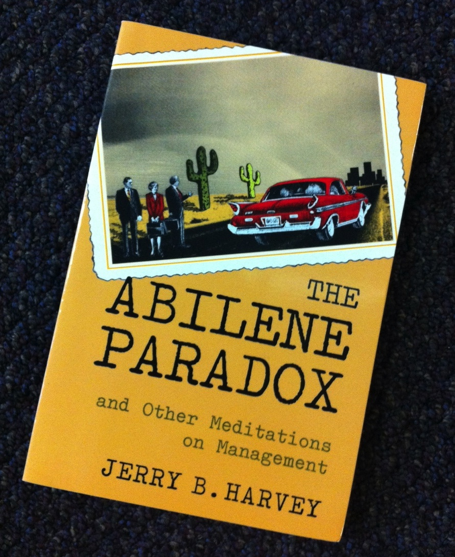 abilene paradox In the abilene paradox, a group does something that nobody wants to do  because each person thinks that everyone else wants to do it.